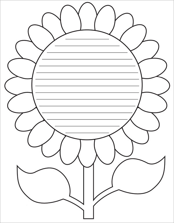 Sample Flower Temlate   Documents In Pdf