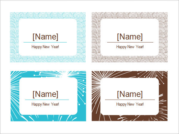7  place card templates