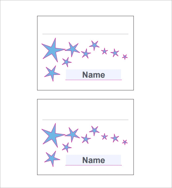 Sample Place Card Template Free Documents Download In Word PDF - Free place card template word