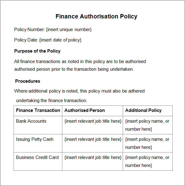 policy and procedure templates pdfdoc x4m0nl2v