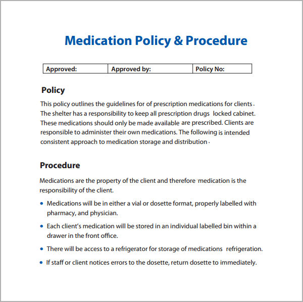 Writing Policies And Procedures Template 6 Policy And Procedure Templates PDF Doc Sample Templates