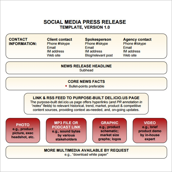 Press Release Distribution Template