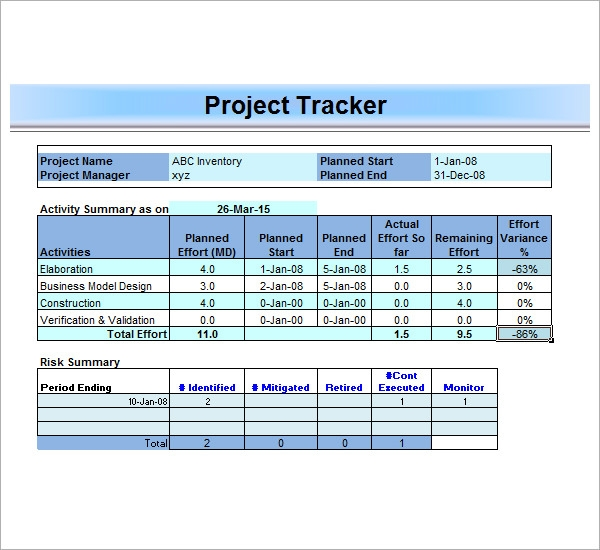 project management tracker template - pacq.co