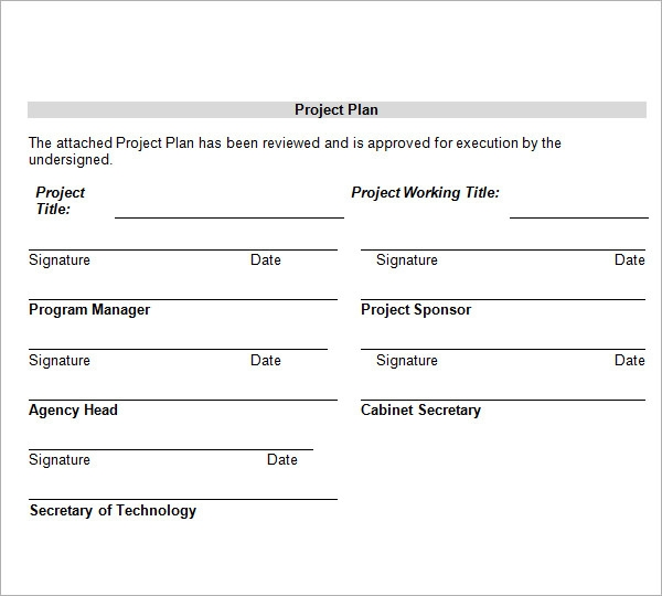 Project Plan Template - Basic project plan template word