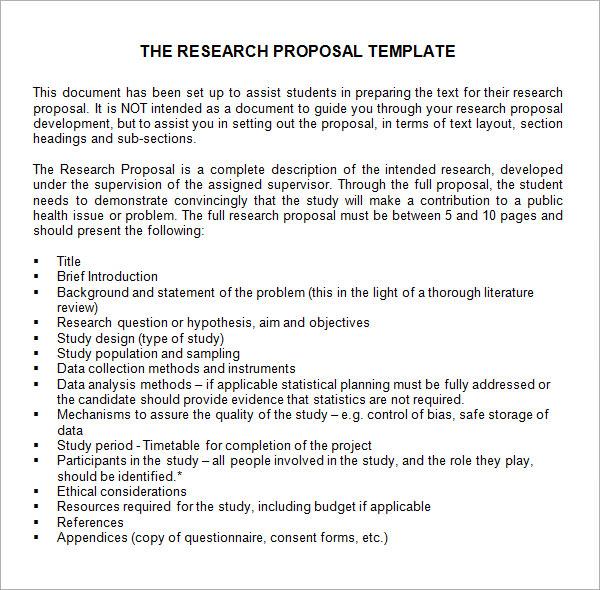 free research proposal