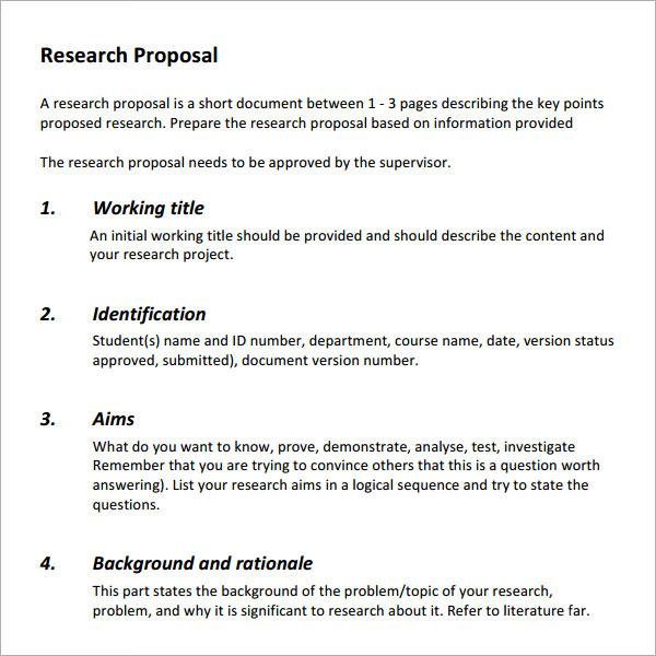 qualitative research proposals