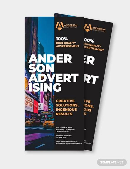 sample advertising agency rack card