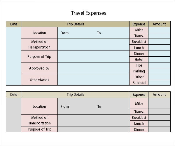sample expense report‎