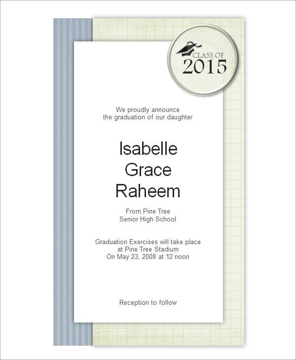 Beautiful Graduation Invitation Templates