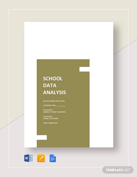 sample school data analysis