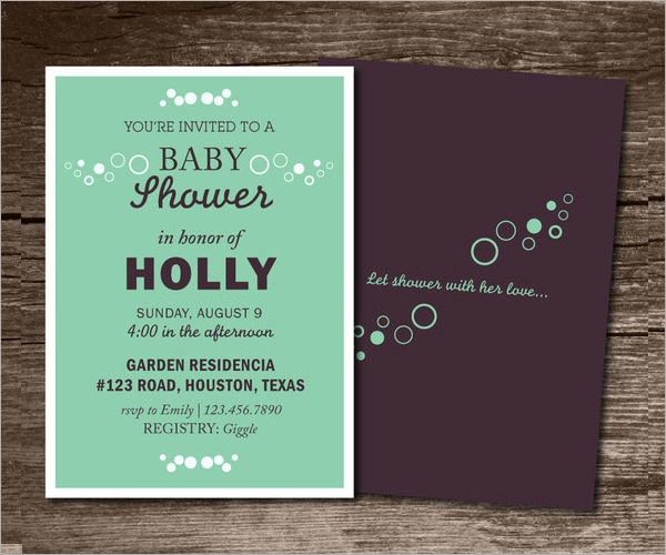 Baby Shower Invitation Template 19 Download In Vector PSD – Sample of Baby Shower Invitations