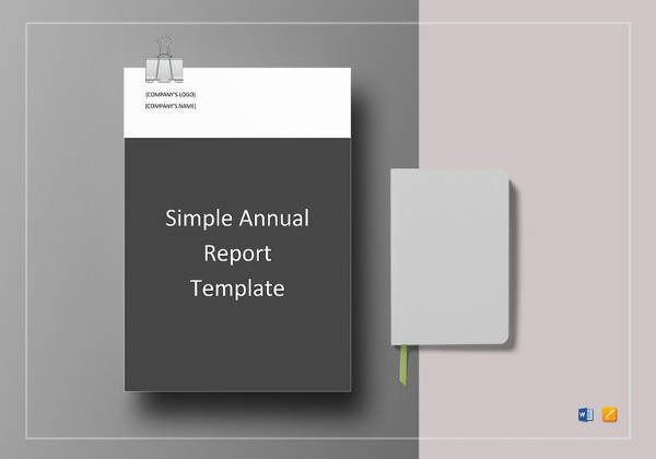 simple annual report template to edit