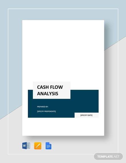 simple cash flow analysis template