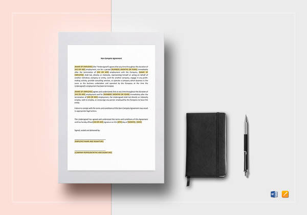 simple non compete agreement template