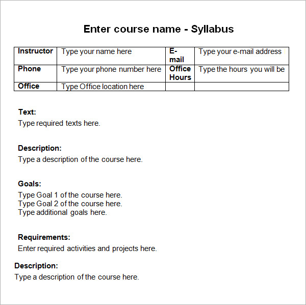 Scheme of instruction examination and syllabus essay