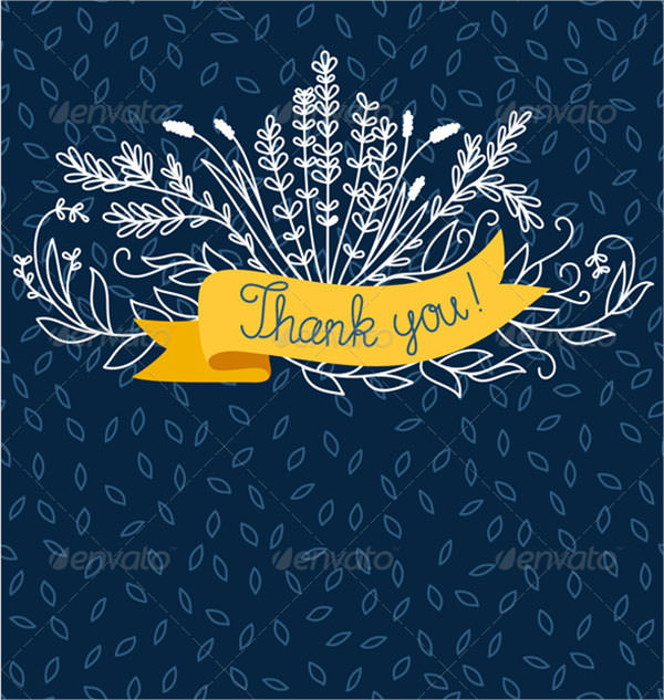 thank you card template sample