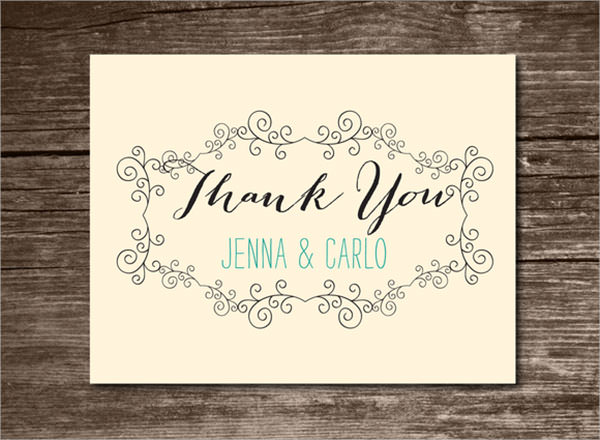 23 printable thank you card templates to download sample templates. Black Bedroom Furniture Sets. Home Design Ideas