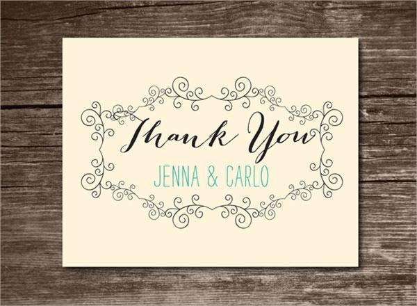 wedding thank you card template   trattorialeondoro