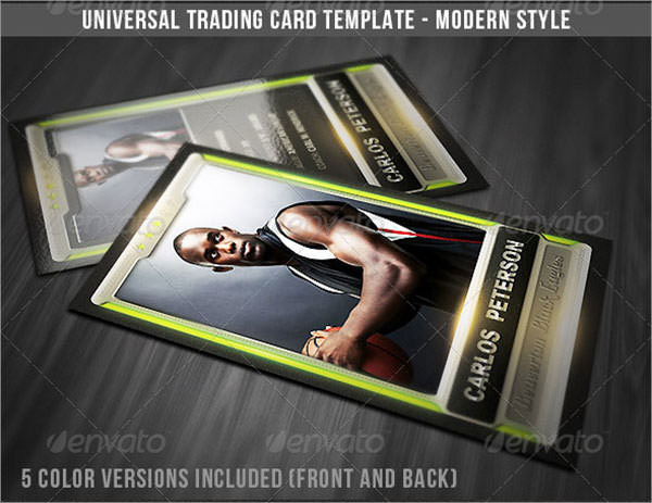 Sample Trading Card Templates