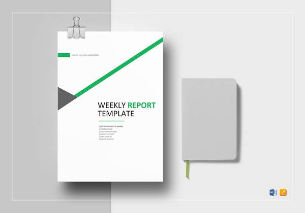 weekly status report template to edit