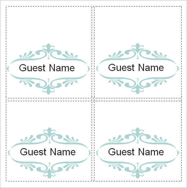Fold over place card template reheart Gallery