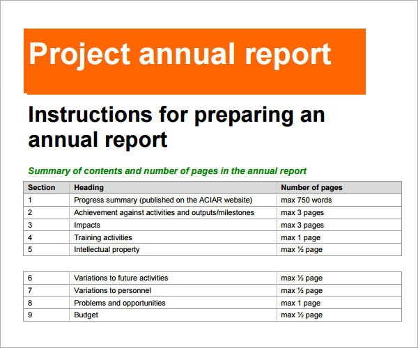 19 annual report templates to download for free sample for End of project report template