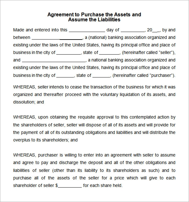 Wonderful Asset Purchase Agreement Template Word