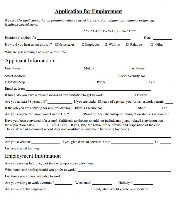 At Will Employment Agreement Template  Employment Contract Free Template