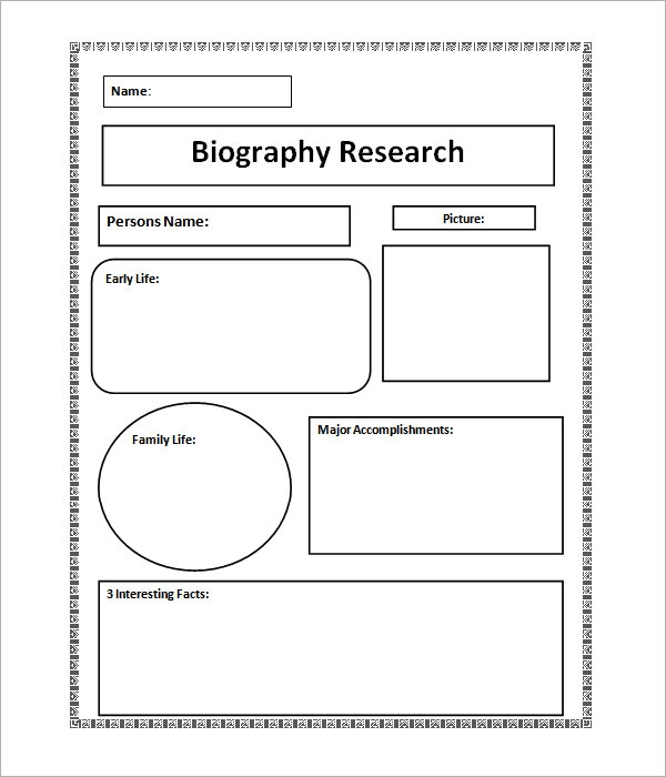 Sample Biography 6 Example Format – Biography Template