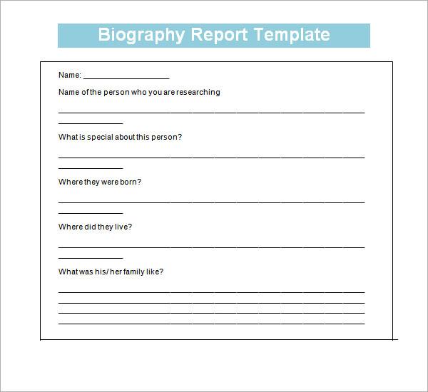 7 biography templates sample templates. Black Bedroom Furniture Sets. Home Design Ideas