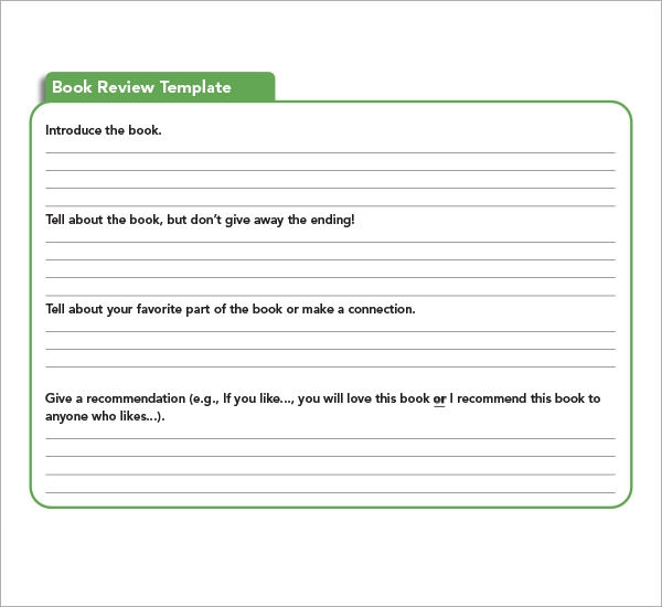 Sample Book Report Template   Free Documents Download In Pdf Word
