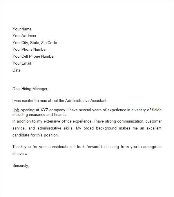 Business Cover Letter Sample  Business Cover Letter Sample