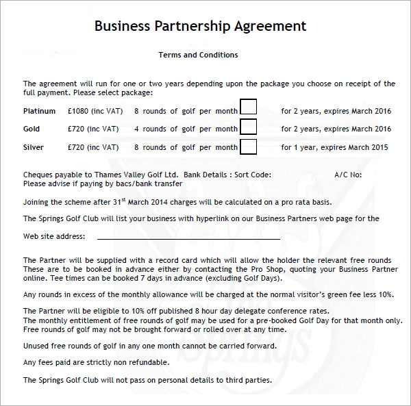 Business Partnership Agreement 6 Download Documents in PDF Word – Simple Business Partnership Agreement