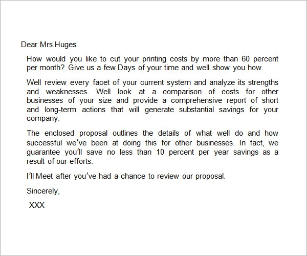 32 Sample Business Proposal Letters – Proposal Sample Template