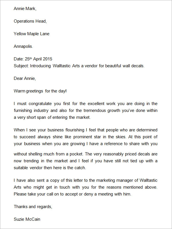 Company Introduction Letter NkvbufGo