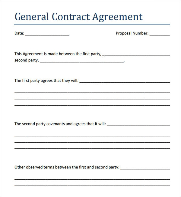 Astounding image regarding blank contract template