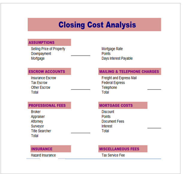 17  cost analysis samples
