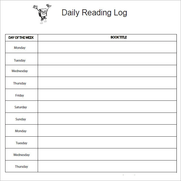 Weekly reading log printable search results calendar 2015 for Reading log with summary template