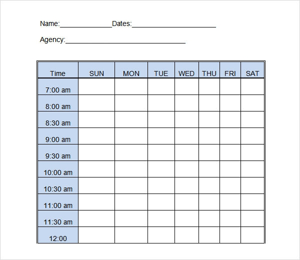 Time Work Sheets Printable | Search Results | Calendar 2015