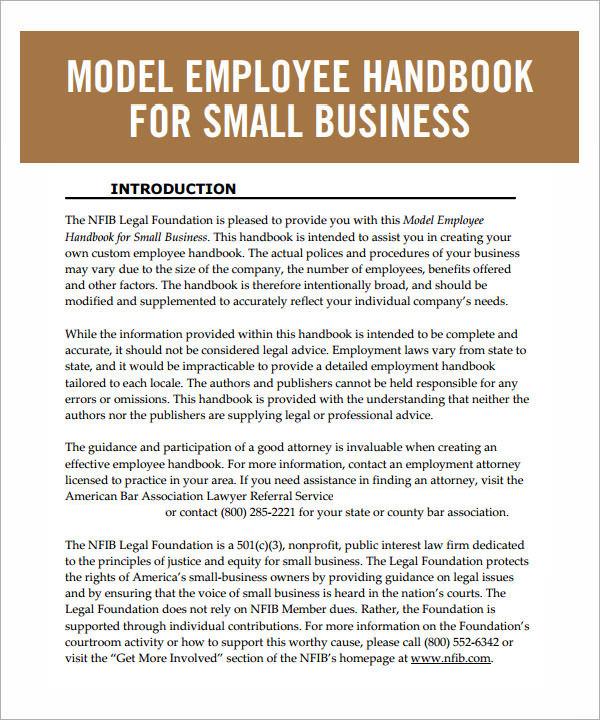 Sample employee handbook template sample printable employee handbook templates wajeb Gallery