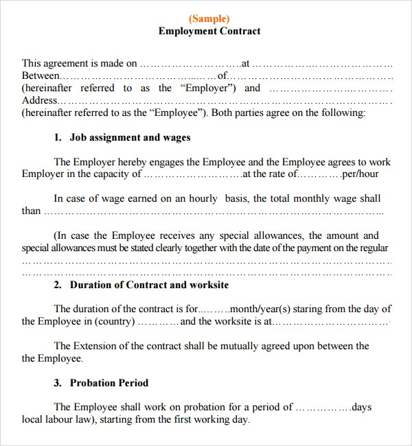 Employment Contracts Small Business  Brian