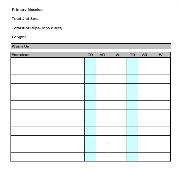 Exercise Log Template - 7+ Free Pdf , Doc Download