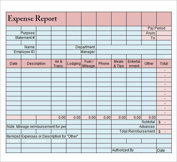 9 Sample Expense Report Templates | Sample Templates