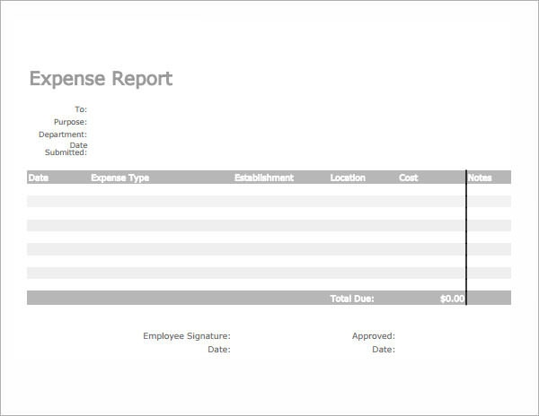 expense report google docs