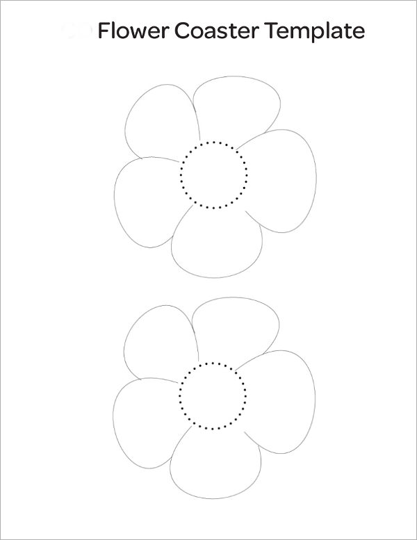 7 sample flower templates sample templates for Coaster size template