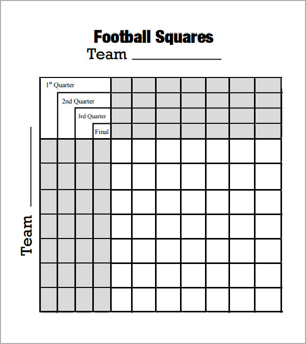Foot Ball Square Template   Free Pdf  Doc Download