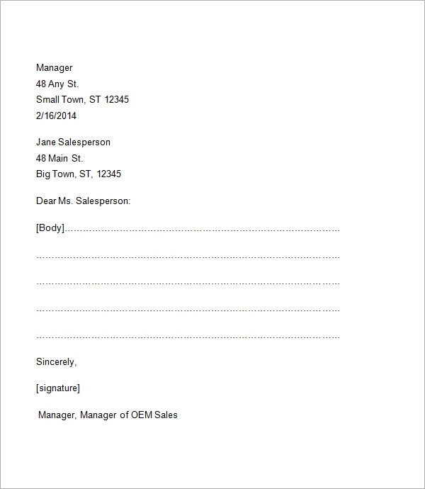 Formal business letter format template friedricerecipe Gallery