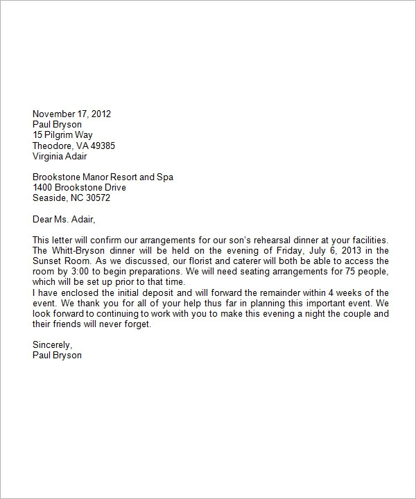 Formal Business Letter Format Sample Templates