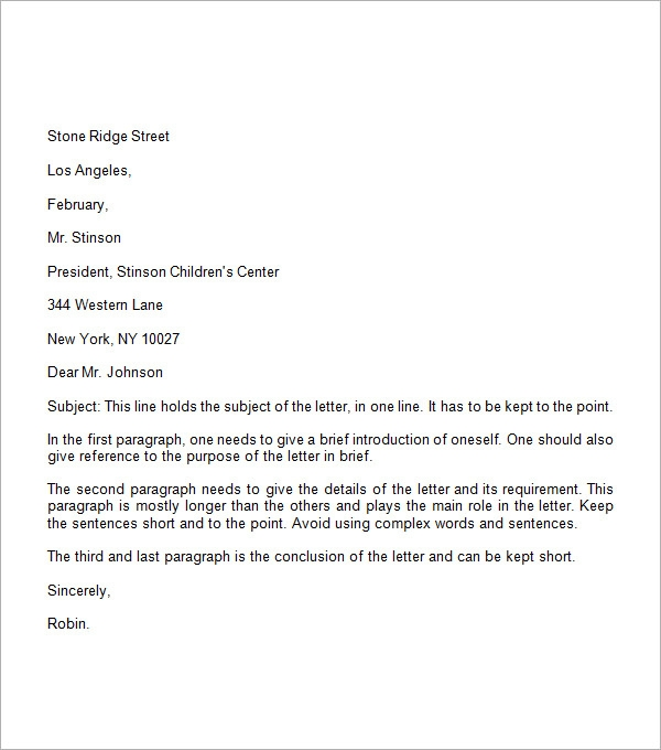 Formal Business Letter - The Best Letter Sample