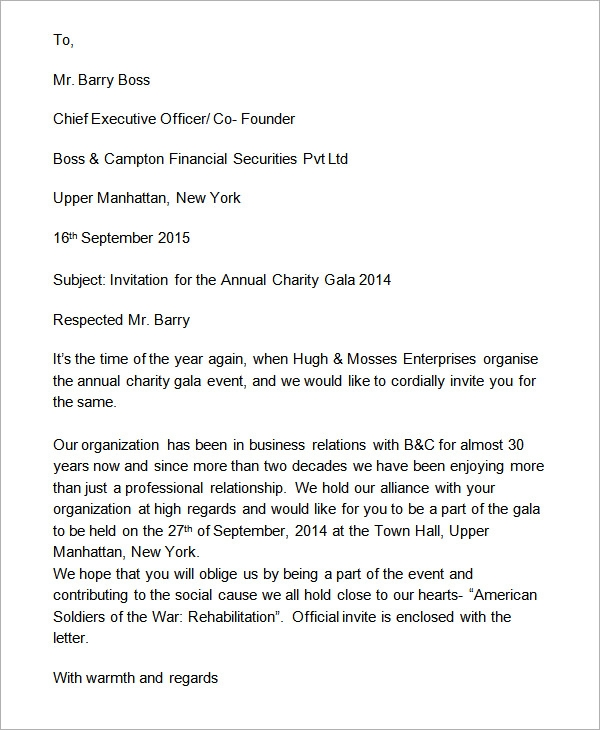 Business Invitation Formal Letter Format 2ibzmVlu